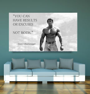 Image Is Loading LARGE Arnold Schwarzenegger Motivation Quote POSTER  Bodybuilding Wall