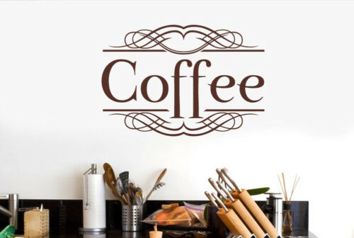 Coffee Classic Sign Wall Stickers Vinyl Art Decals