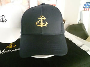 Captains-Cap-bestickt-Anker-Anchor-Base-Cap-Yacht-Boat-Boot-Segeln-Marine-Ship