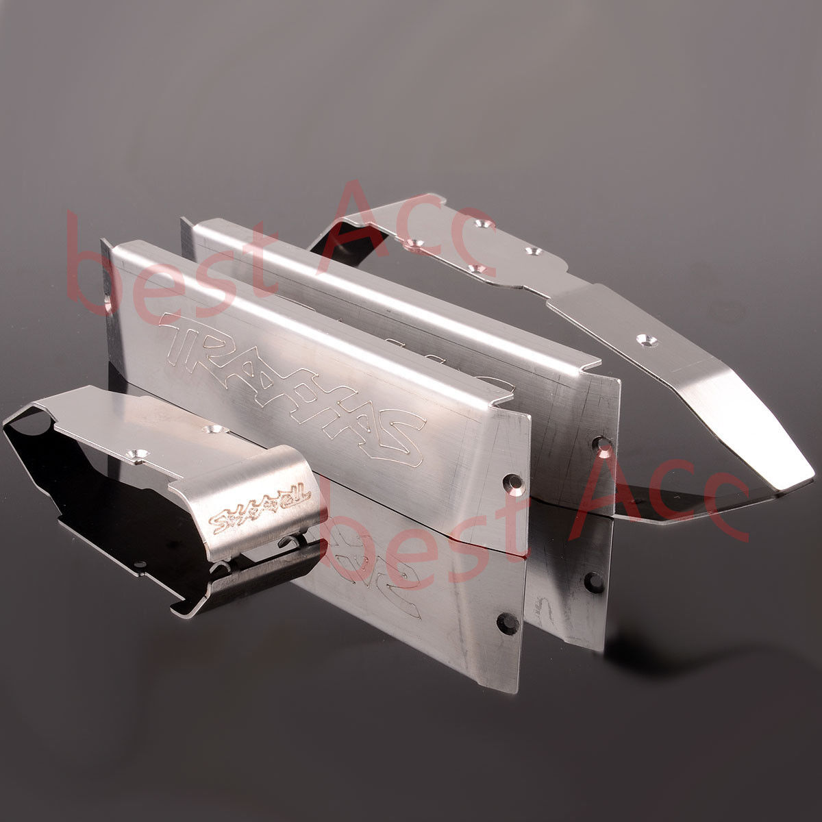 RC 1 10 TRAXXAS RVOPA SUMMIT SUMMIT SUMMIT Stainless Steel Chassis Armor Front Rear Skid Plate d51326