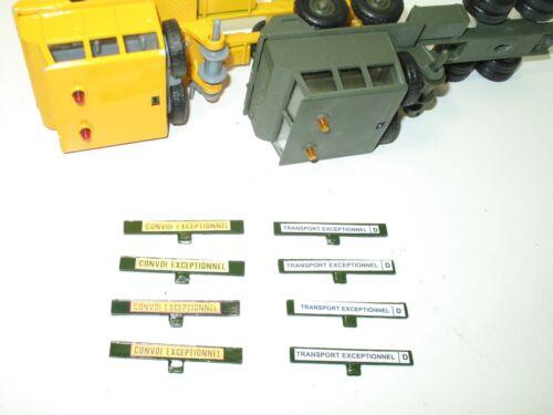 SOLIDO bandeau TRANSPORT EXEPTIONNEL berliet T12 militaire 1990/' a 1 patte METAL