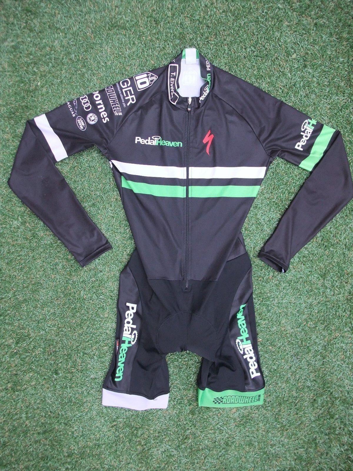 Pedal CX Heaven Team Issue Cycling TT CX Pedal Triathlon Duathlon LS Skin Suit  Medium 91246f