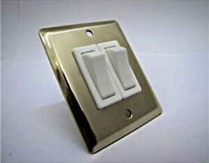 Osculati Wall-mounting Double Rocker Switch Polished Stainless Steel Panel