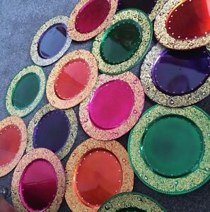 10 Decorated Mehndi Plates FREE POSTAGE - <span itemprop=availableAtOrFrom>batley, West Yorkshire, United Kingdom</span> - 10 Decorated Mehndi Plates FREE POSTAGE - batley, West Yorkshire, United Kingdom