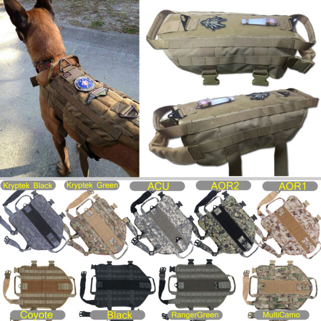 Tactical Dog K9 Training  Molle Vest Harness [5 Sizes,  9 colors option]