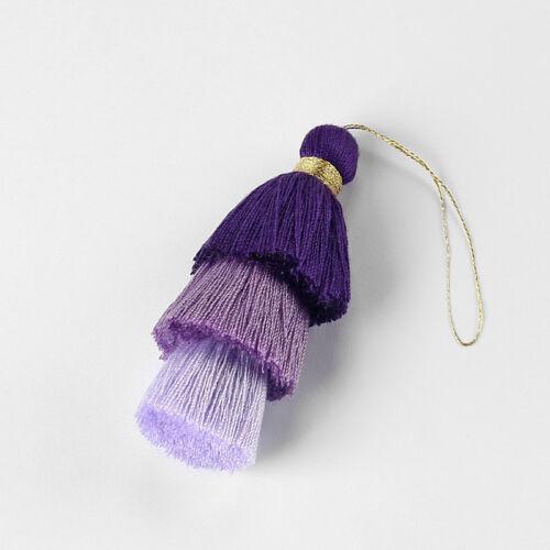 1pcs Multicolor Cotton Multilayer Tassel Cothes Bag Jewelry Making Pendant 77mm