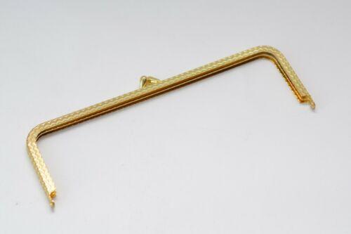 80er Jahre Taschenrahmen // Taschenbügel mit Verzierung 175 x 55 mm Gold