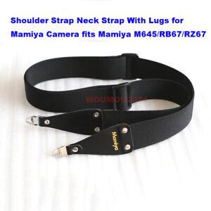 Nylon Webbing Shoulder Strap Neck Strap W/ Lugs For Mamiya M645/RB67/RZ67 Camera