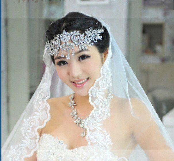 Crystal Tiara Crown Pageants Hair Headband Wedding Queen Bridal Rhinestone Bride