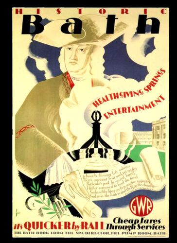 A3 VINTAGE RETRO Posters Print Old Style #12 Bath 1935 GWR Railway Travel