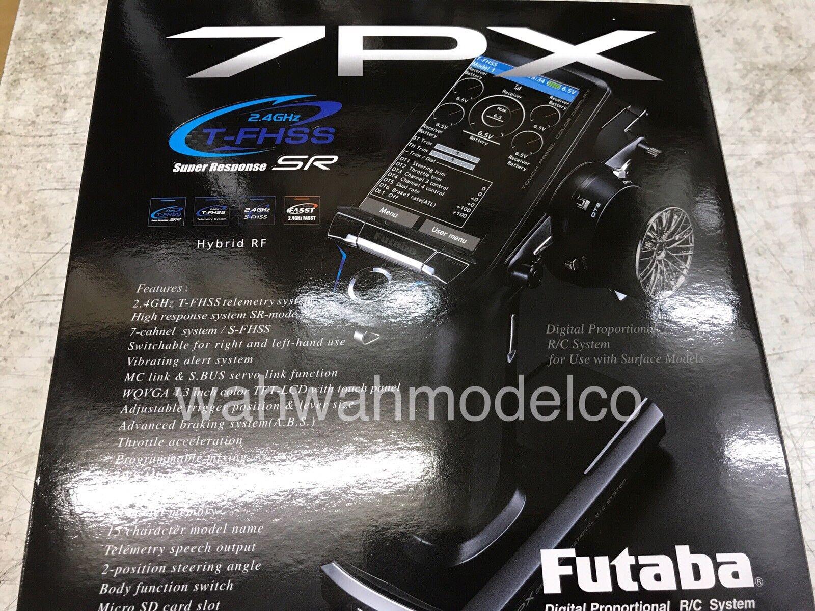 alto descuento FUTABA 7PX 2.4GHz 2.4GHz 2.4GHz T-FHSS Super Response 7 Channel Surface wR334SBSx2 In Stock  opciones a bajo precio