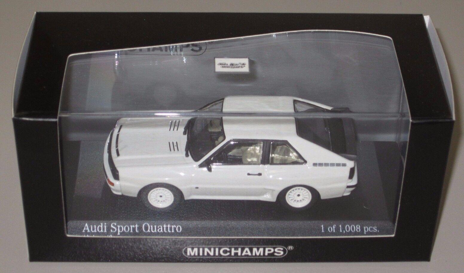 Auto Modell Audi Sport Quattro alpine white 1 43 von 1984 NEU OVP 1 43 Minichamps
