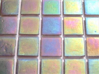 Iridescent Mosaic Tiles Tessera 75 Tile Pack Tesserae 20mm Black