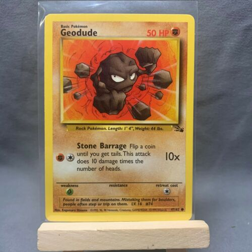 GEODUDE 47//62 Fossil Set NM Unlimited Edition Pokemon Card Common