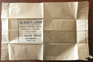 R-May-amp-Son-Commercial-and-Scholastic-Stationers-Aylesbury-Vintage-Paper-Bag