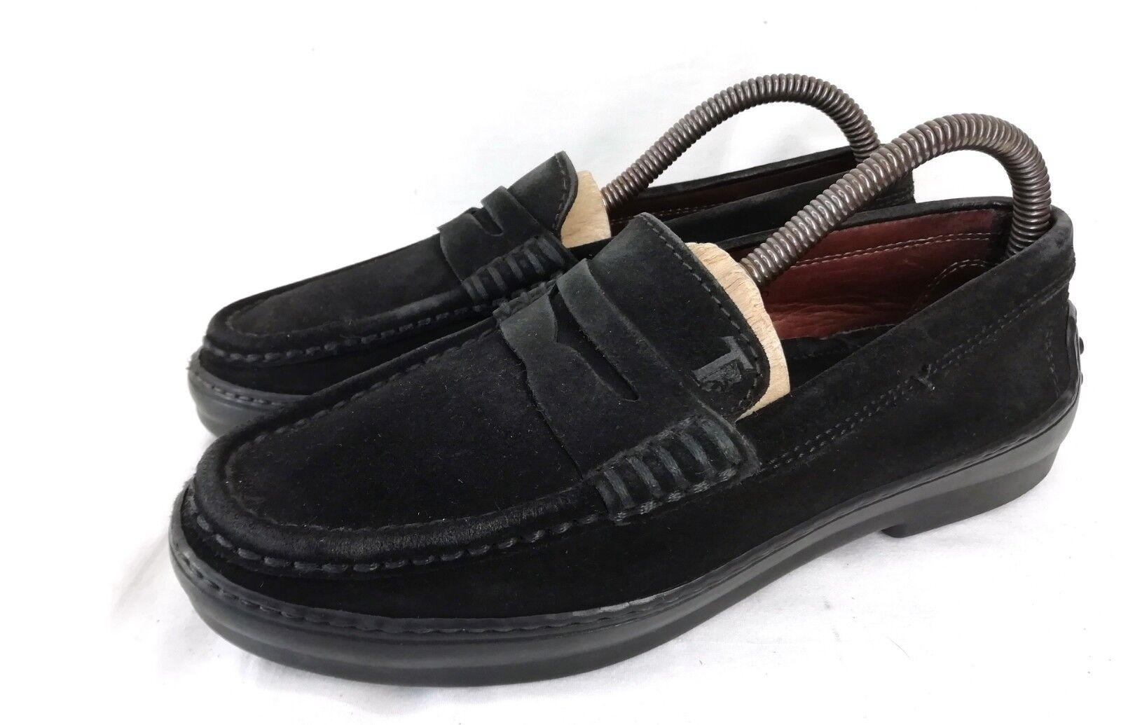 Tod's gommino gommino gommino Penny loafer mocasín zapatos de mujer negro de gamuza talla 36 vibram  diseños exclusivos