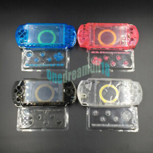Clear-Blue-Pink-For-PSP1000-PSP-1000-Console-Full-Housing-Shell-Case-Colver
