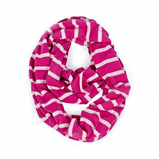 New Itzy Ritzy Nursing Happens Infinity Breastfeeding Scarf Pink Peony Stripe For Sale Online