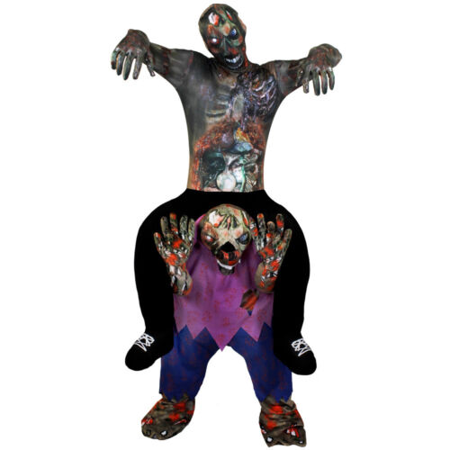 ZOMBIE RIDING ZOMBIE PICK ME UP HALLOWEEN COSTUME FUNNY FANCY DRESS RIDE ON