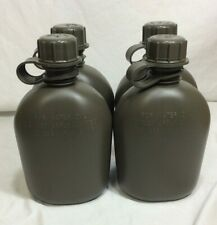 OD GREEN US MILITARY 1 QUART HARD PLASTIC CANTEEN 4 PACK BPA FREE 4 NEW