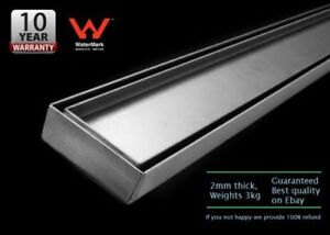 600mm-Tile-Insert-Stainless-Steel-Linear-Shower-Bathroom-Grate-Drain-034-2mm-thick-034