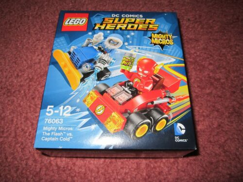 LEGO SUPER HEROES MIGHTY MICROS THE FLASH VS CAPTAIN COLD 76063 NEW//BOXED