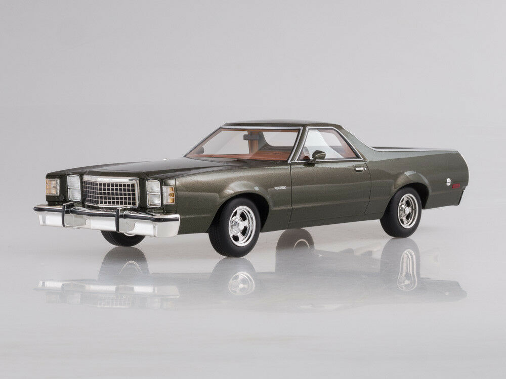 Modelo de escala 1 18 Ford Ranchero, metálico-verde oscuro, 1979