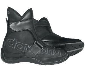 NEU-DAYTONA-Stiefel-Shorty-schwarz-Gr-45-Lederstiefel-Motorradstiefel