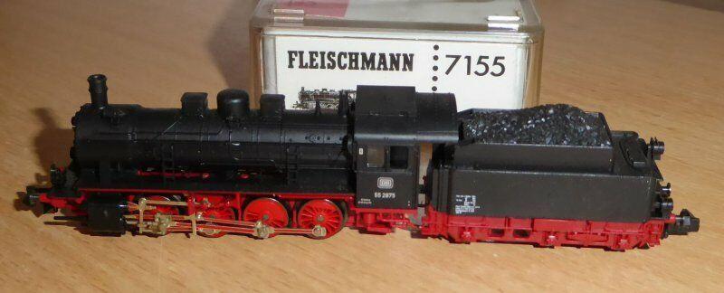 Fleischmann 7155 n máquina de vapor br 55 2875 DB época 3 muy bien recibido, BW Nuremberg