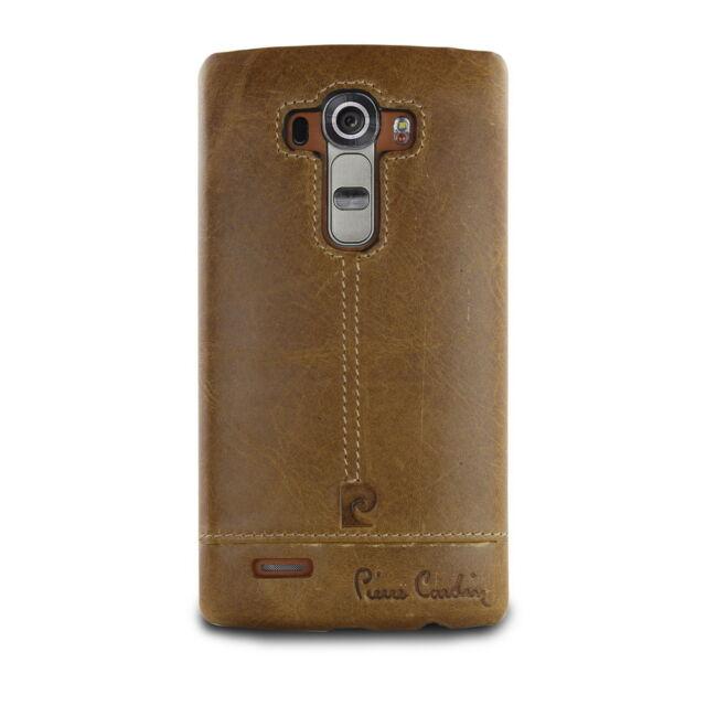 Original Pierre Cardin Genuine Leather Case Cover Hard Back Skin For LG G4 G40