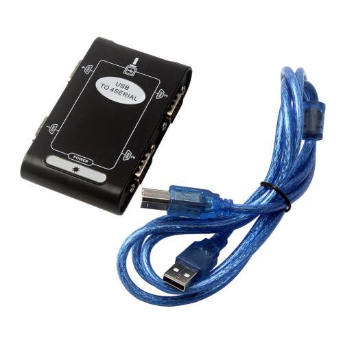 4port RS232 to USB2.0 Serial DB9 COM Converter Card I//O Controller