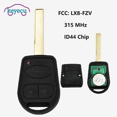Keyecu Replacement Remote Car Key Fob 3 Button 315//433MHz ID44 for Range Rover Sport 2002-2006 FCC ID:LX8FZV