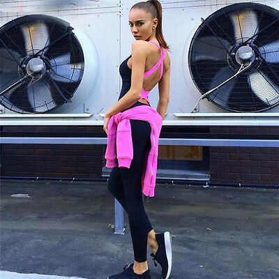 Womens Sports/Training/Gym/Run/Yoga  Jumpsuit Active Wear Fitness Stretch Pants
