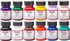 Angelus Acrylic Leather Paint /Dye - Leather & Vinyl - Starter Kit 12 Bottles