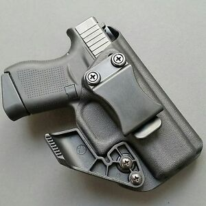 For Glock 43 Straight Draw- IWB Kydex Holster + RCS CLAW