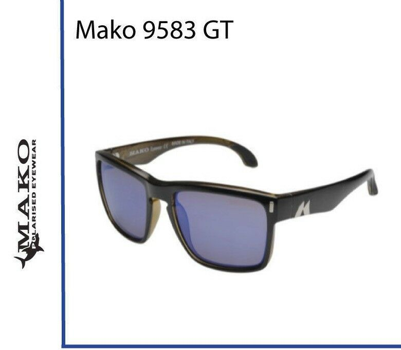 Mako GT bluee Mirror Glass Sunglasses Polarised 9583+ Free Postage + Free Shirt