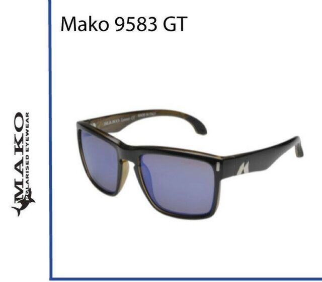 0ea09a704d Mako GT Blue Mirror Glass Sunglasses Polarised 9583+ Free Postage + Free  Shirt
