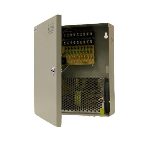 9ch 12v DC Power Supply Box CCTV Cameras AV 110V-240V