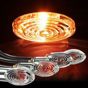 4-Amber-Motorcycle-Turn-Signals-Lights-Lamp-Short-Stalk