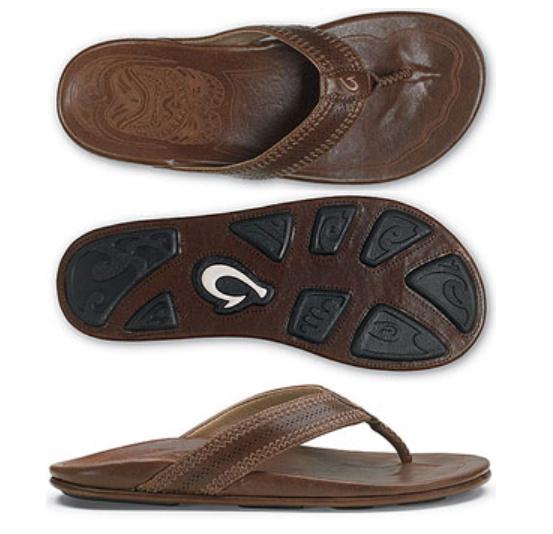 Olukai Pookela Pookela Pookela Dark Java Dark Java Comfort Flip Flop Men's sizes 7-15 NIB e6ff63