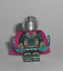 LEGO-Super-Heroes-Mysterio-Figur-Minifig-Spiderman-Molten-Man-76128-76129