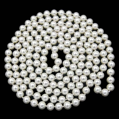 8//10mm South Sea White Shell Pearl PERLES rondes collier long 24 in environ 60.96 cm sans fermoir