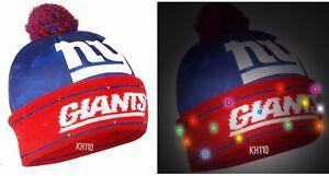 62baf0f67f0 NFL New York Giants Big Logo Camoflage 2017 Light Up Beanie ...