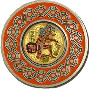 MAYAN-BALL-PLAYER-2in-SPINNER-GEOCOIN-Ant-Sil-U-T-NEW