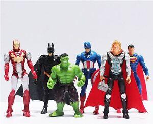 MARVEL-SUPER-HEROES-Set-de-6-Figuras-Los-Vengadores-Batman-Superman