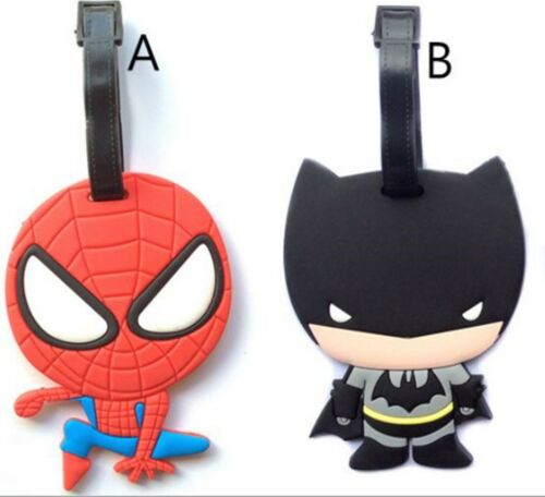 1x Kid silicone Child Boy Travel back to School Luggage Tag Holder Name badge