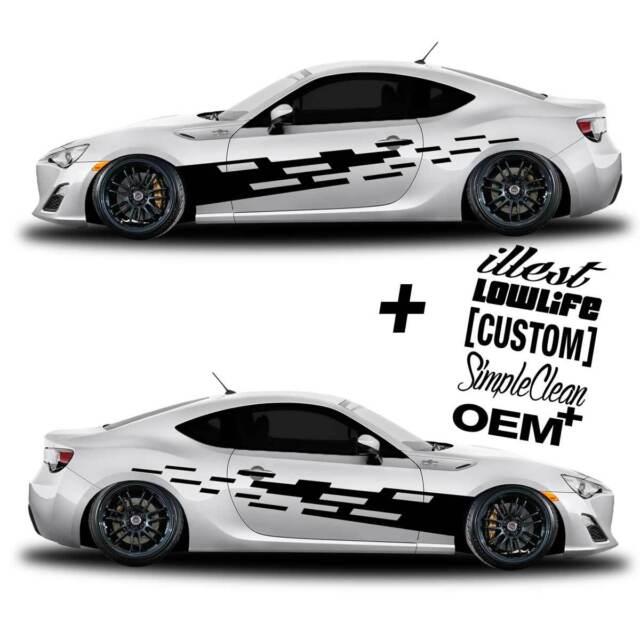 vinyl body GRAPHICS tuning tear car sticker decal 056 + 5 Decals - JDM Euro race