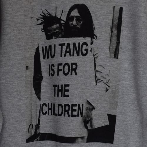 Fait réel wutang est pour les enfants ODB /& John Lennon Heather Gris Sweat