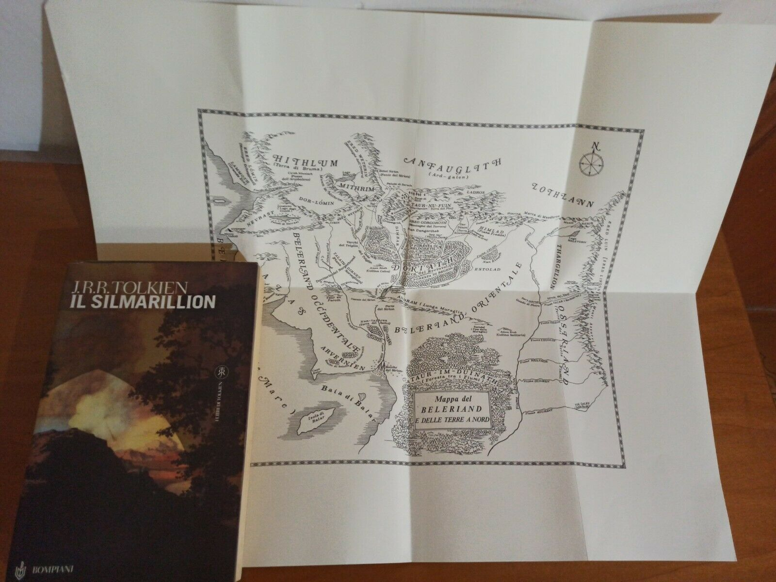 J.R.R.Tolkien - Il Silmarillion, Bompiani  2007 con MAPPA!