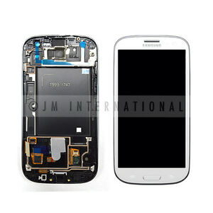 White-Samsung-Galaxy-S3-i747-T999-LCD-Touch-Screen-Digitizer-w-Frame-Assembly